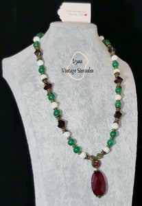 Necklace with Pendant with Gemstone-Nephritis