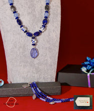 Load image into Gallery viewer, Grade A NC Lapis Lazuli and Labradorite (with bracelet )