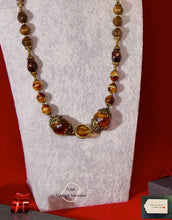 Load image into Gallery viewer, Grade C NC   Crystal Swarovski and Yellow Tiger Eye