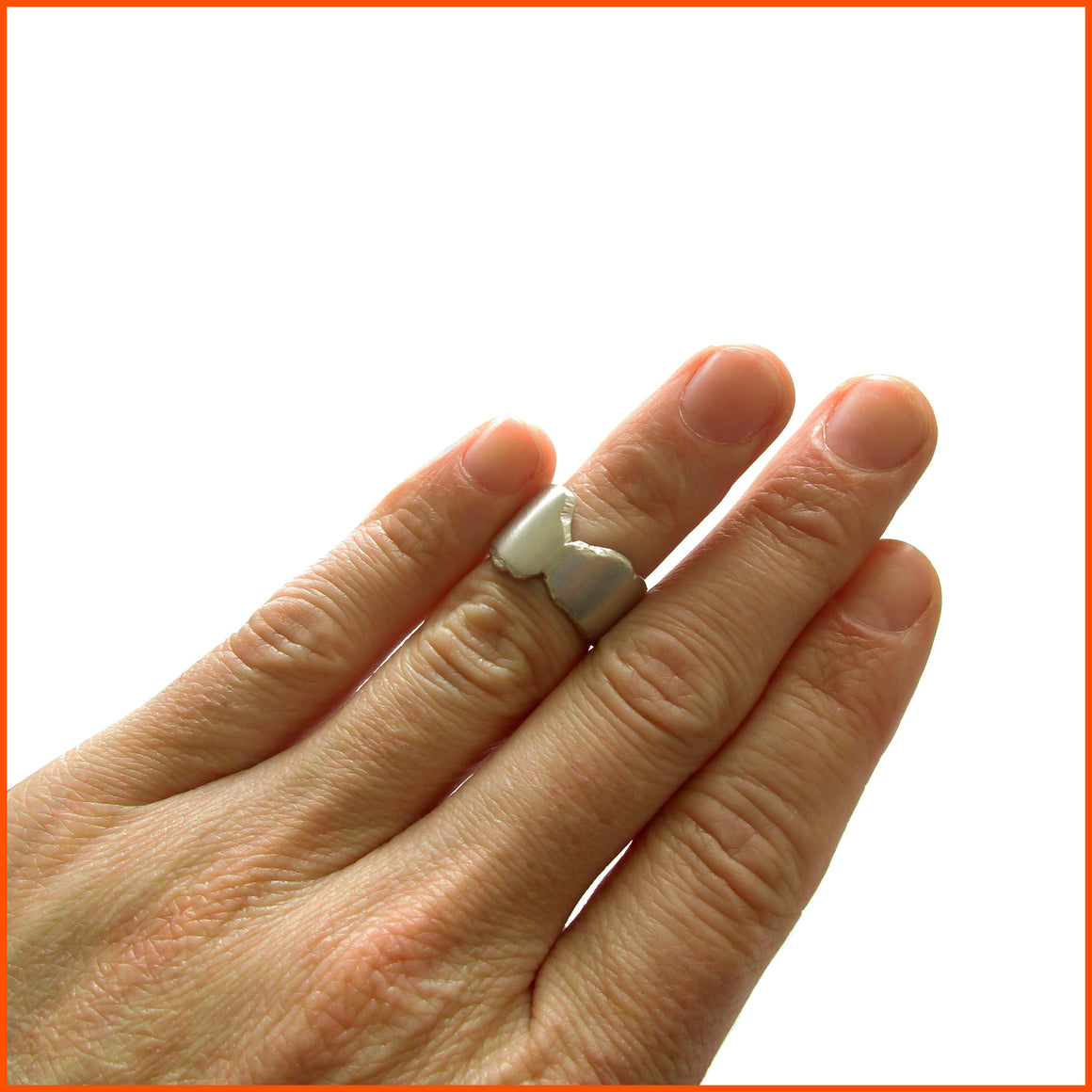 handmade unisex sterling silver ring by seth papac jewelry