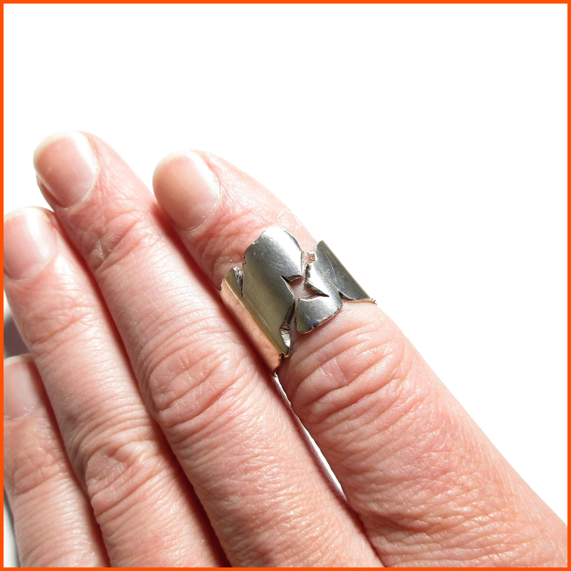 handmade sterling silver unisex ring by seth papac jewelry