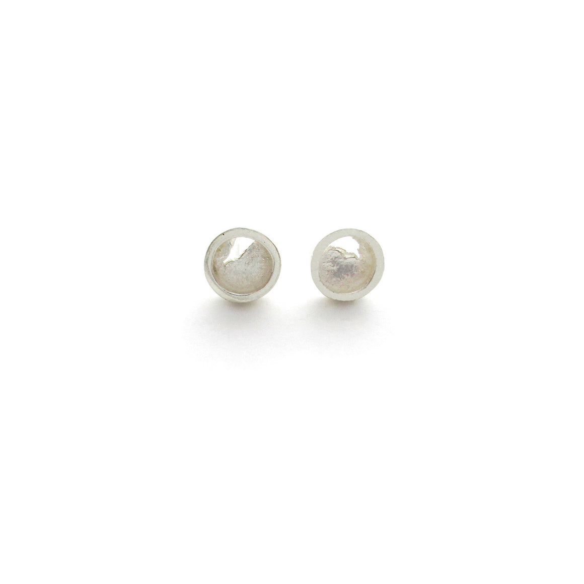 Seth Papac Torn silver stud earrings