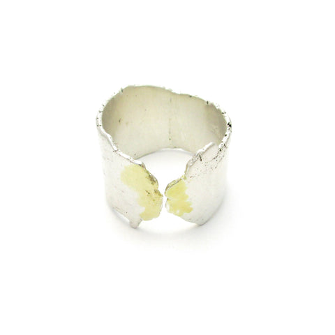sterling silver and 18K gold ring by Seth Papac