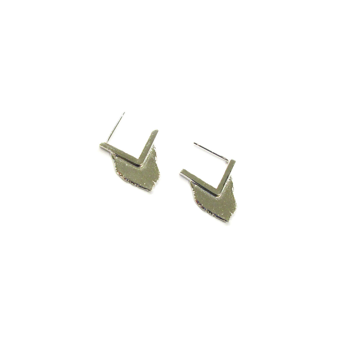 sterling silver earrings by Seth Papac