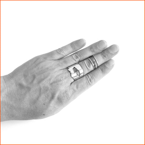 handmade sterling silver ring by Seth Papac
