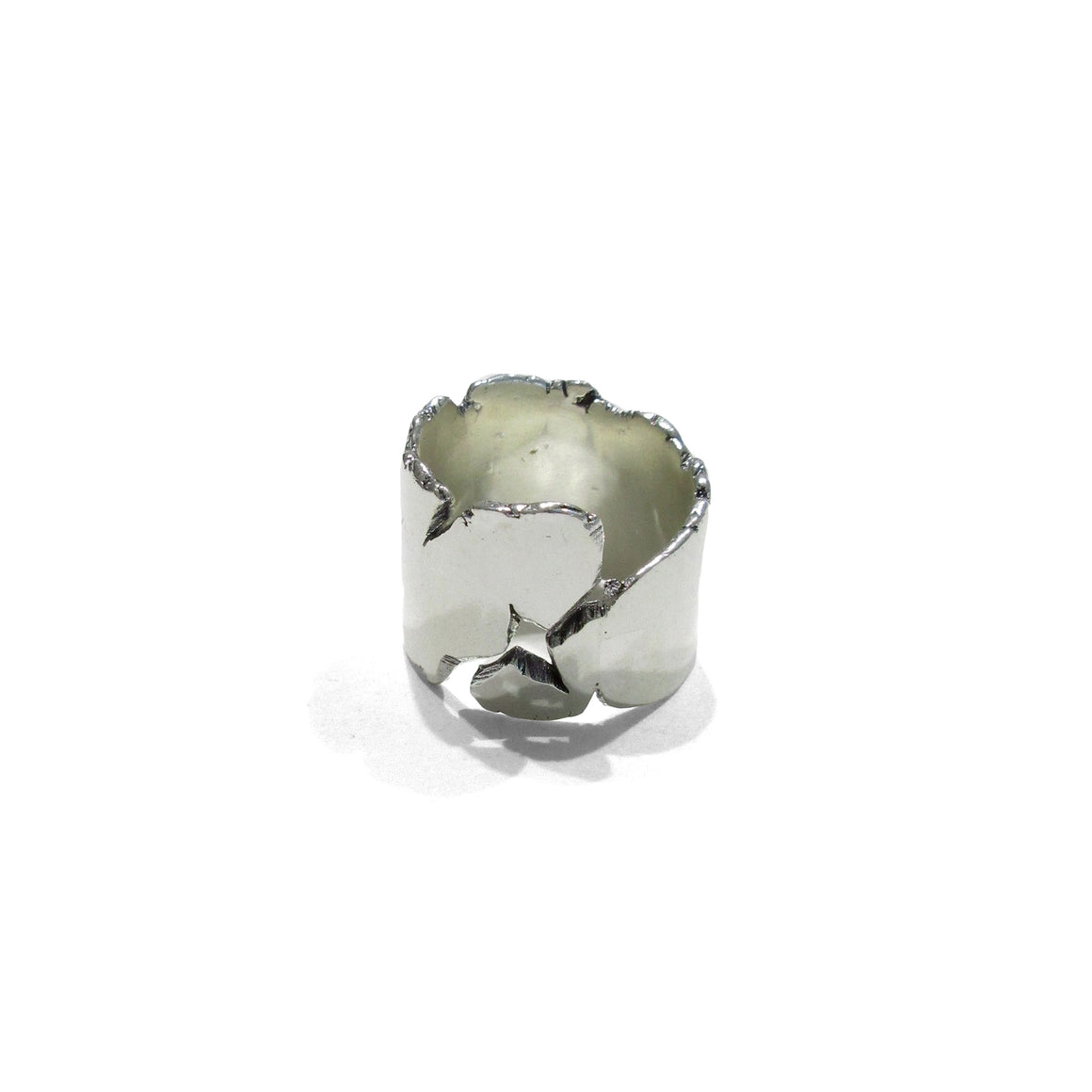 handmade sterling silver unisex ring by Seth Papac