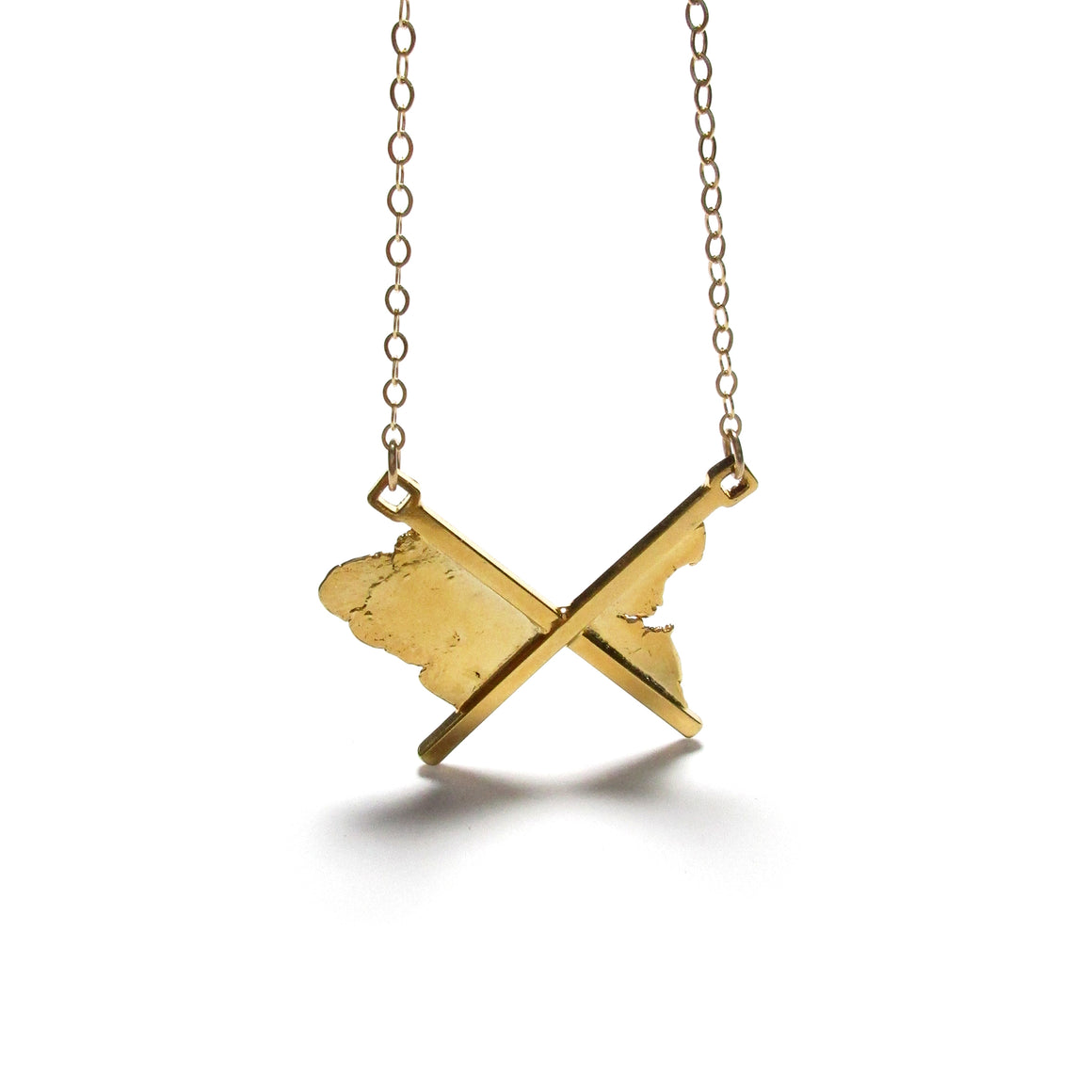 handmade 18K gold plated sterling silver unixex necklace by seth papac jewelry