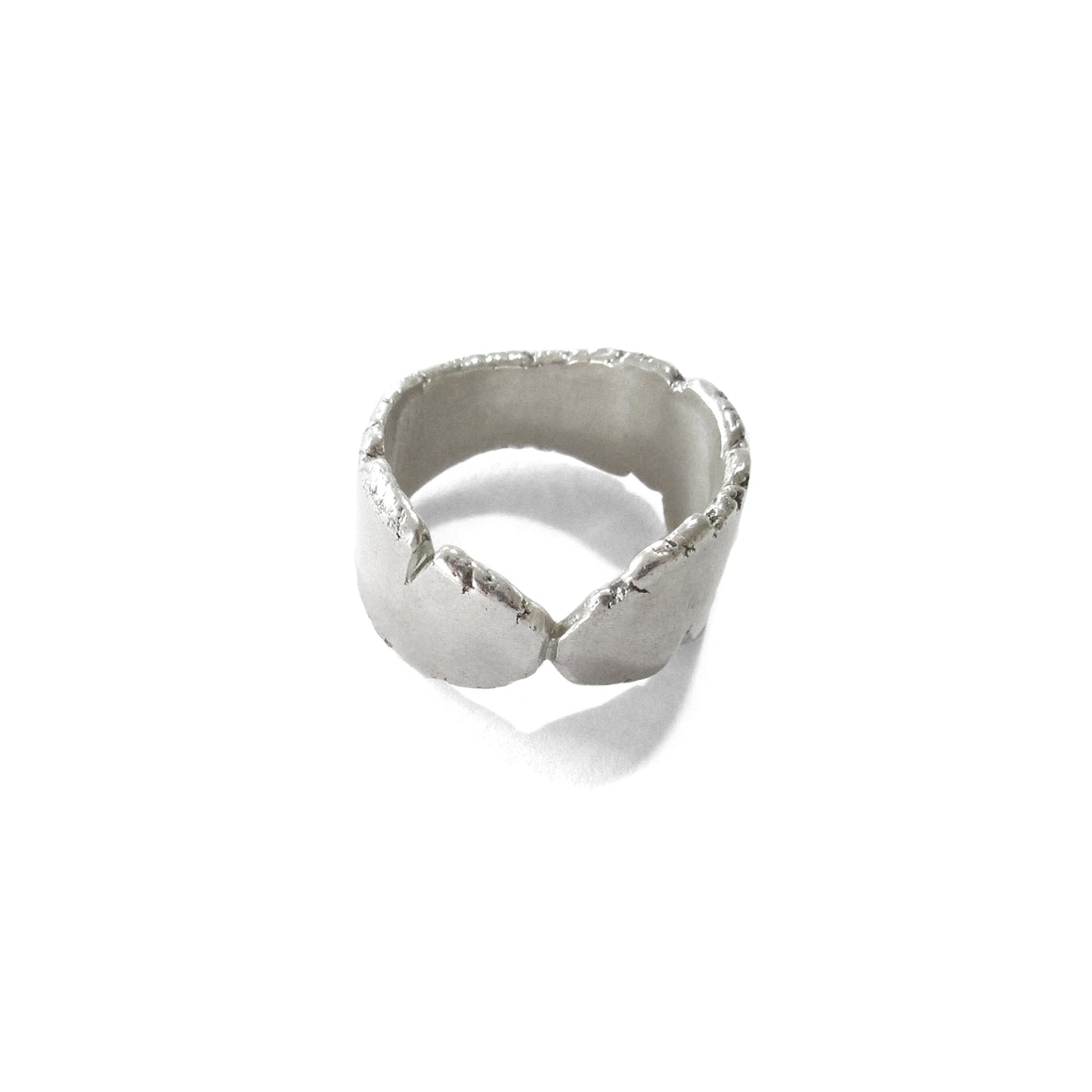 handmade, one of a kind silver unisex mens ring by Seth Papac Jewelry