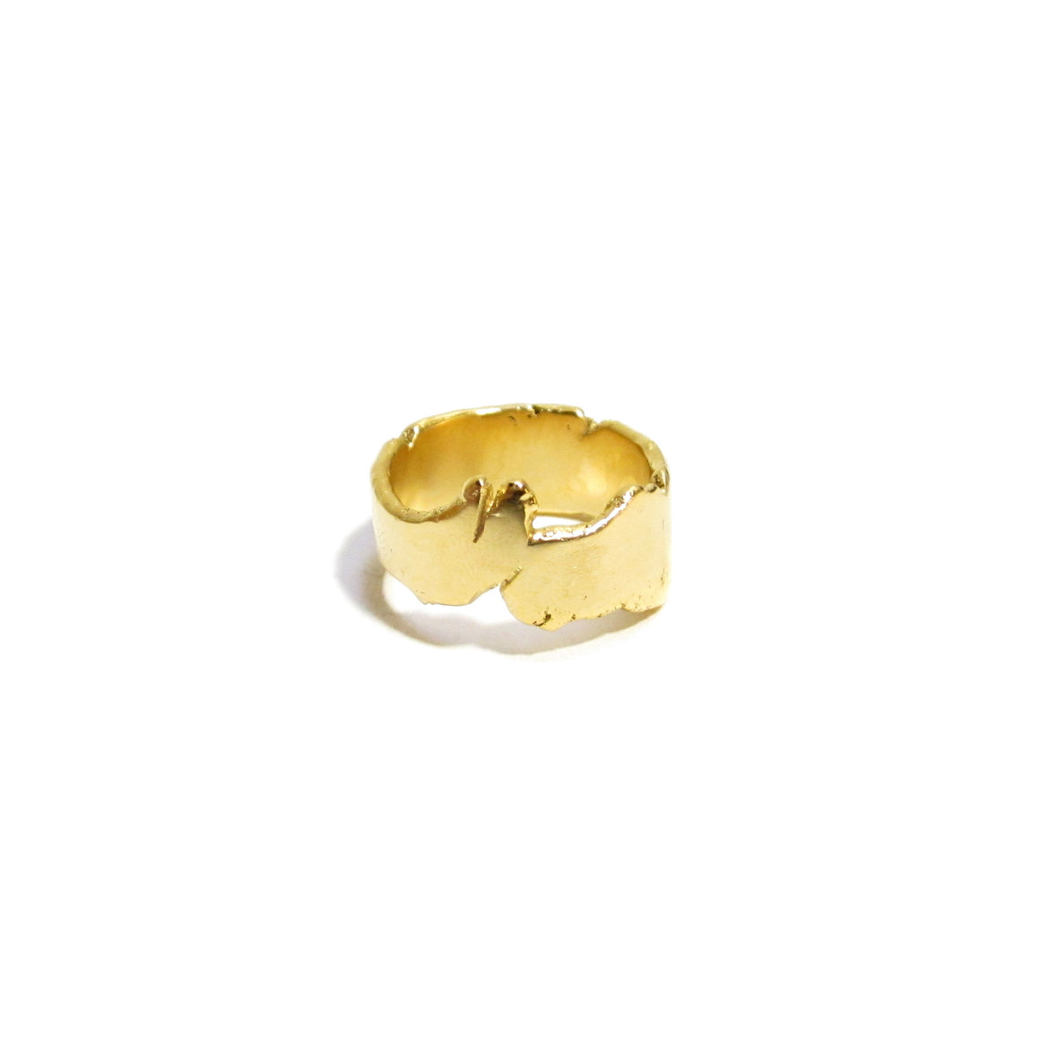 handmade gold plated silver ring for men or women