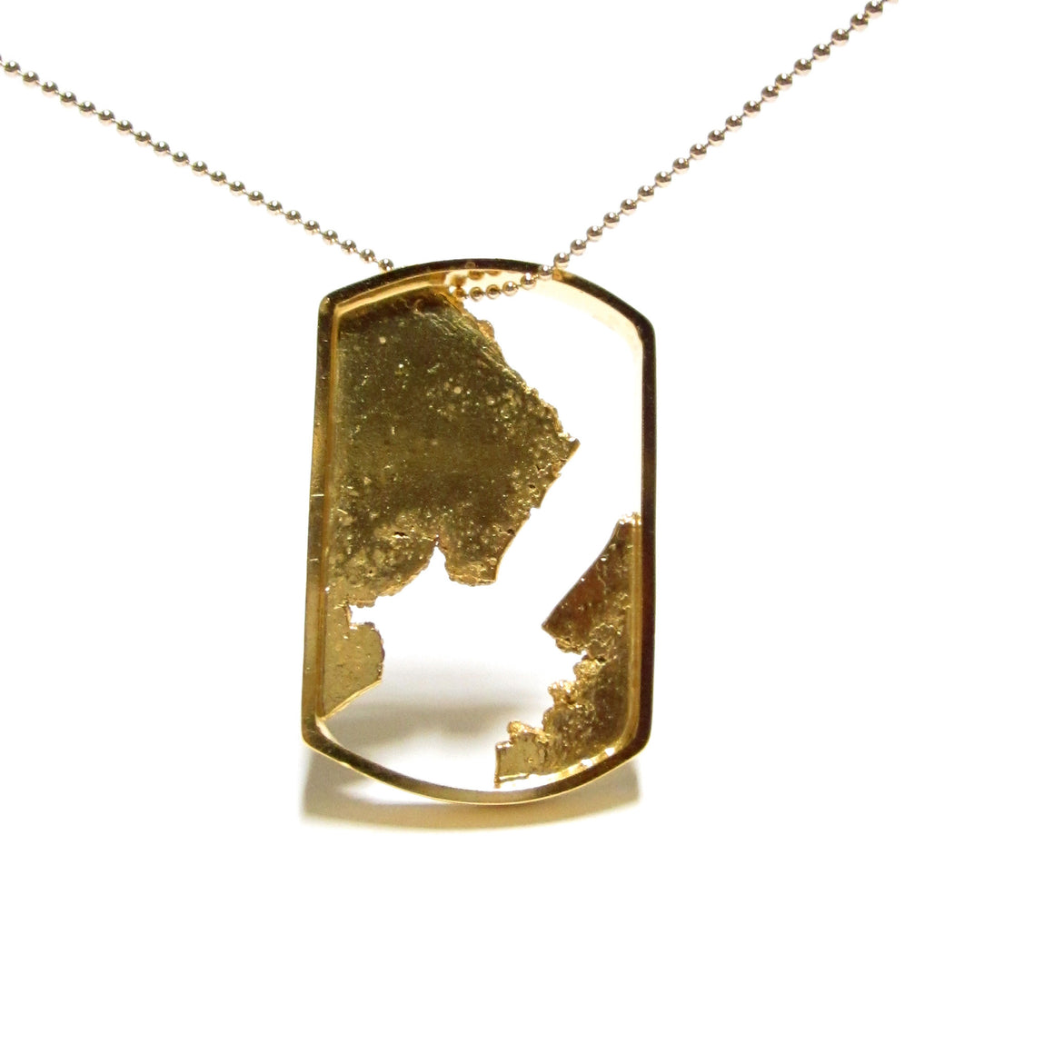 Seth Papac Torn In Tags - Large - 18K Gold Plated sterling silver