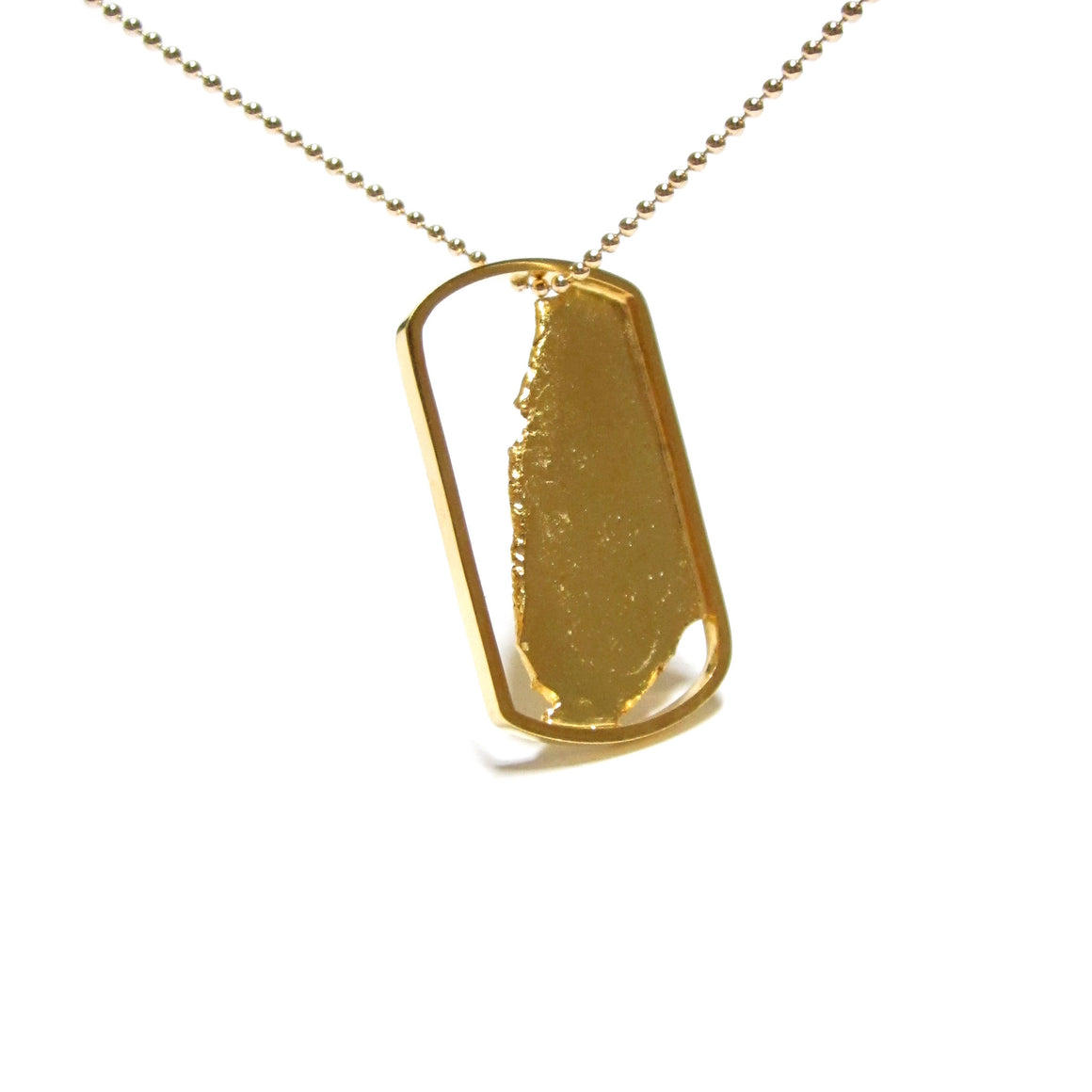 Seth Papac Torn In Tags - Small 18K Gold Plated sterling silver