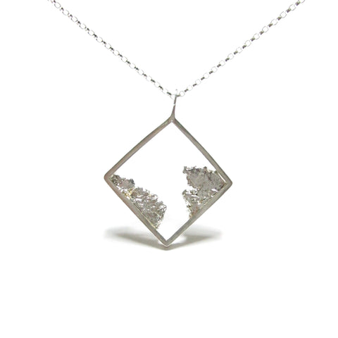 Seth Papac Torn Square Pendant - Silver