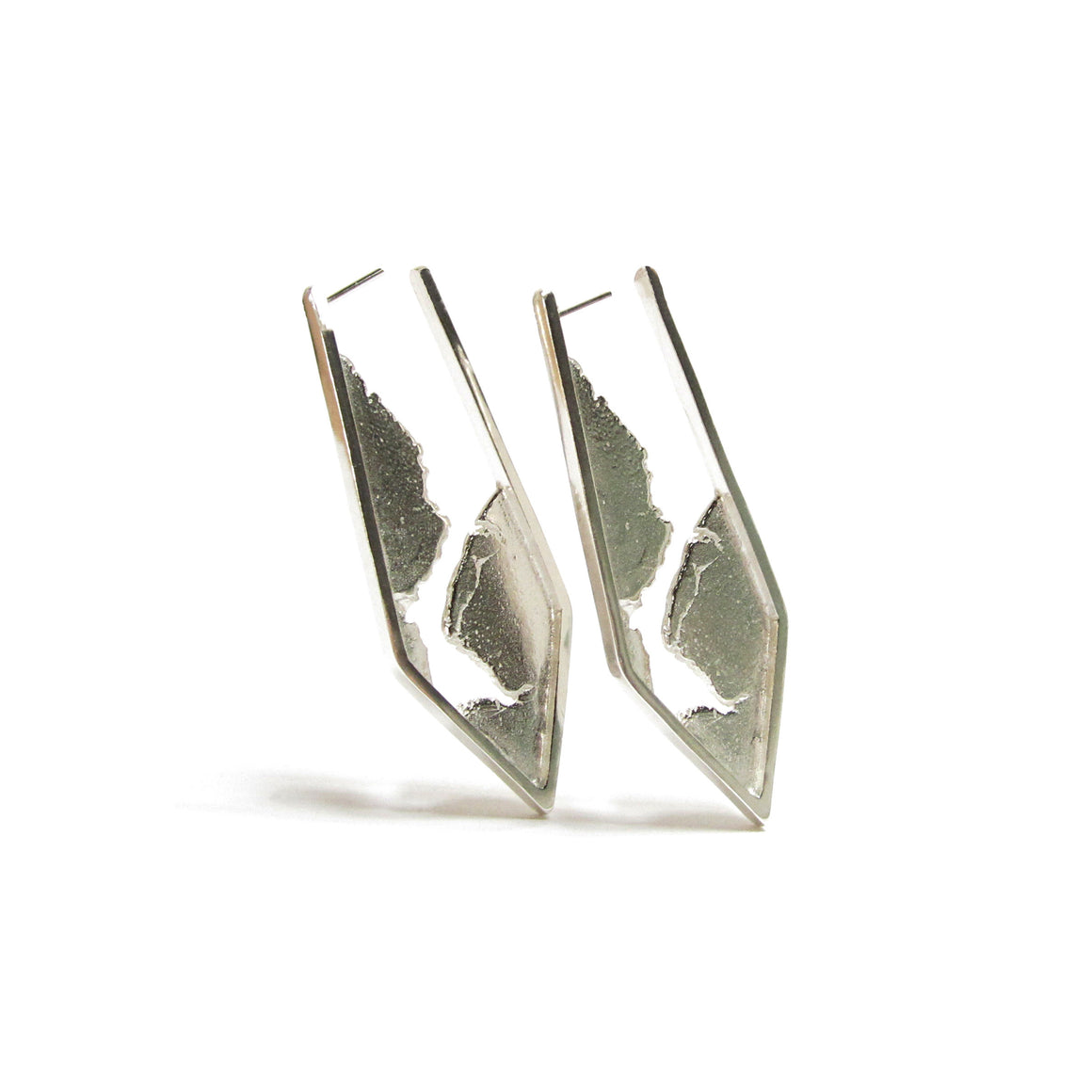 silver hoop earrings by Seth Papac Jewelry