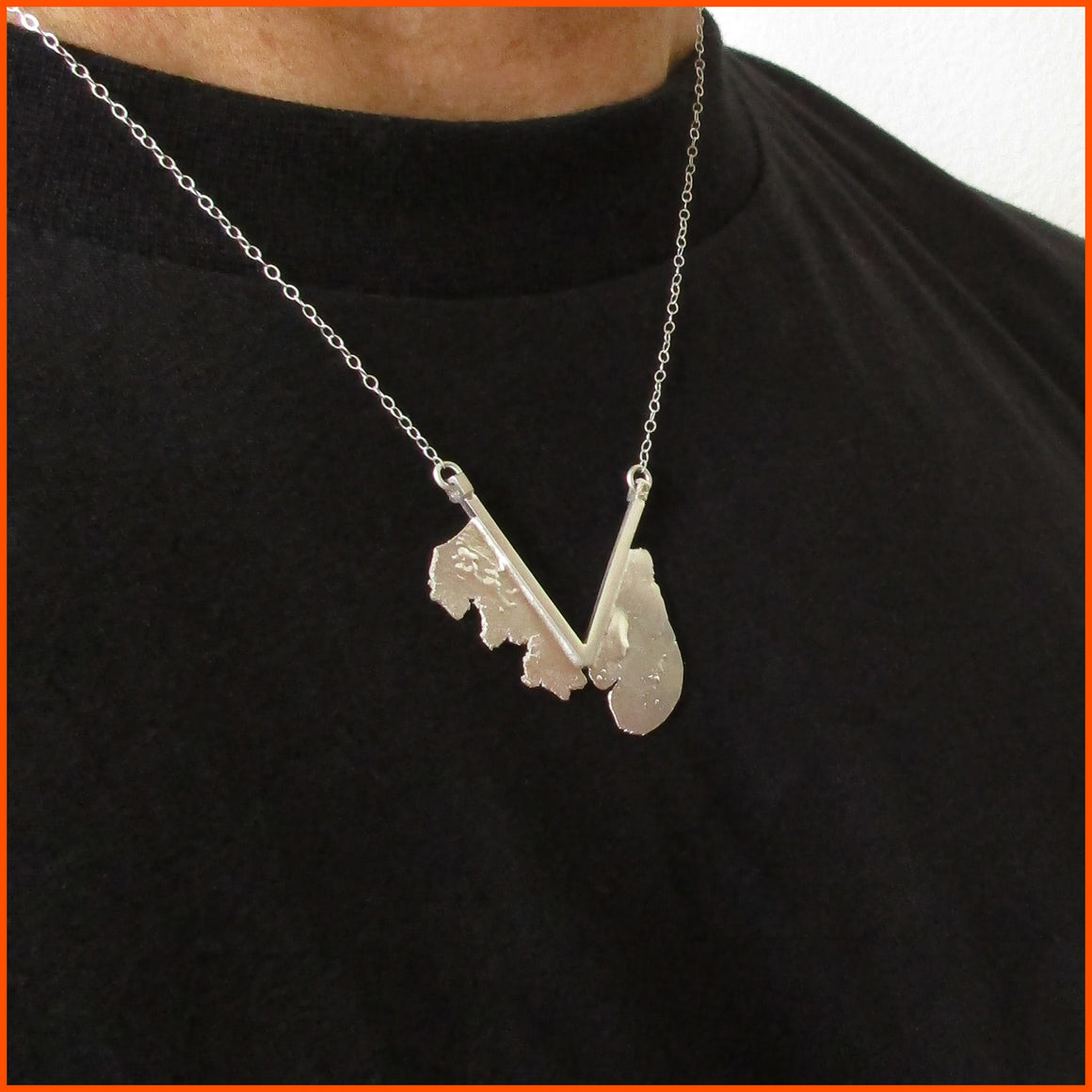 handmade sterling silver unixex necklace by seth papac jewelry