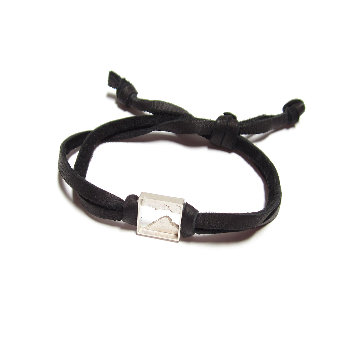 Seth Papac Torn Bracelet in sterling silver and leather