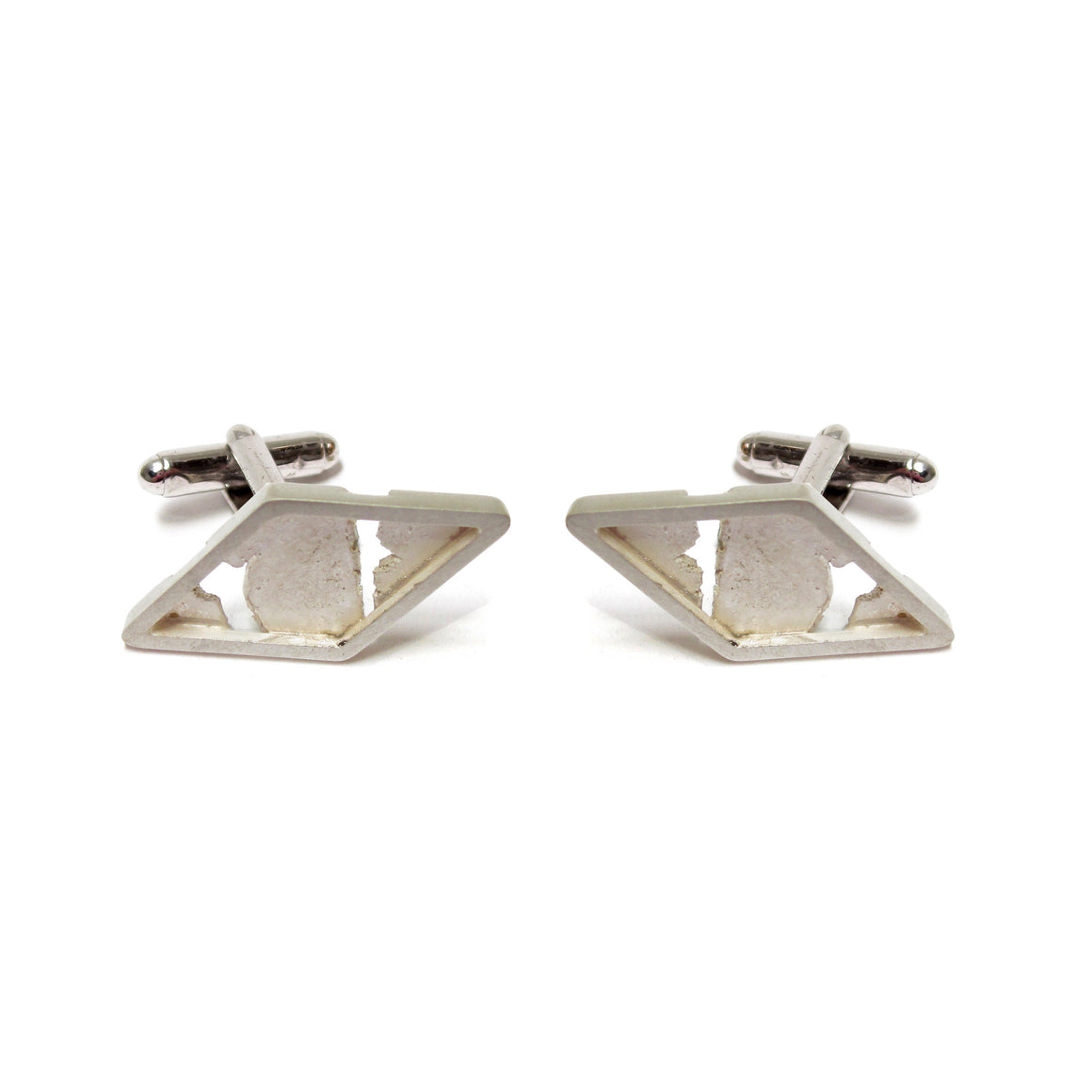 Seth Papac Torn Diamond Cufflinks