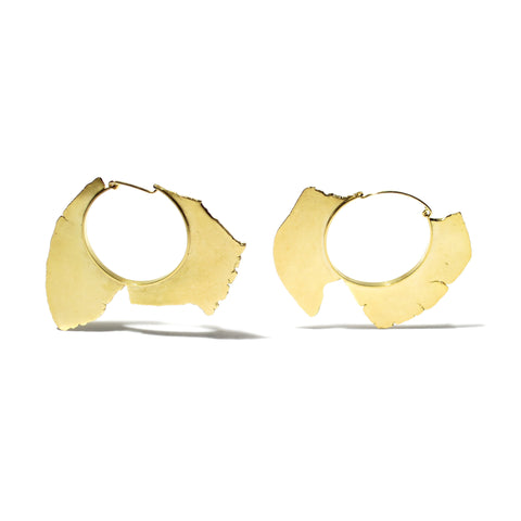 handmade 18K gold plated sterling silver hoop earrings