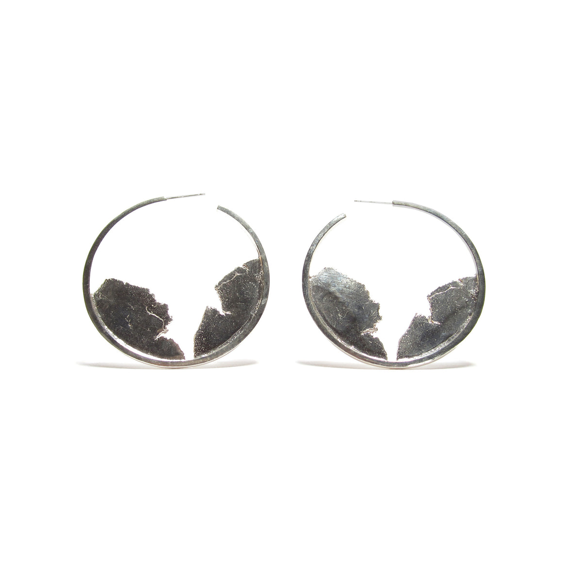 sterling silver hoop earrings by Seth Papac