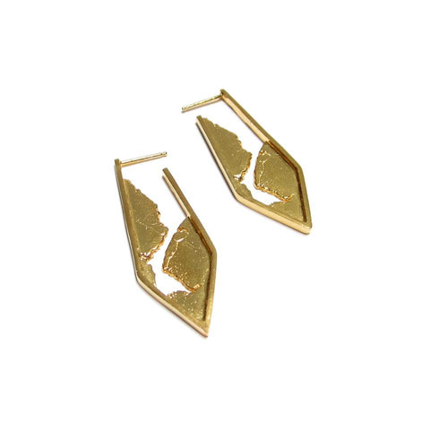 18K gold plated sterling silver earrings by Seth Papac