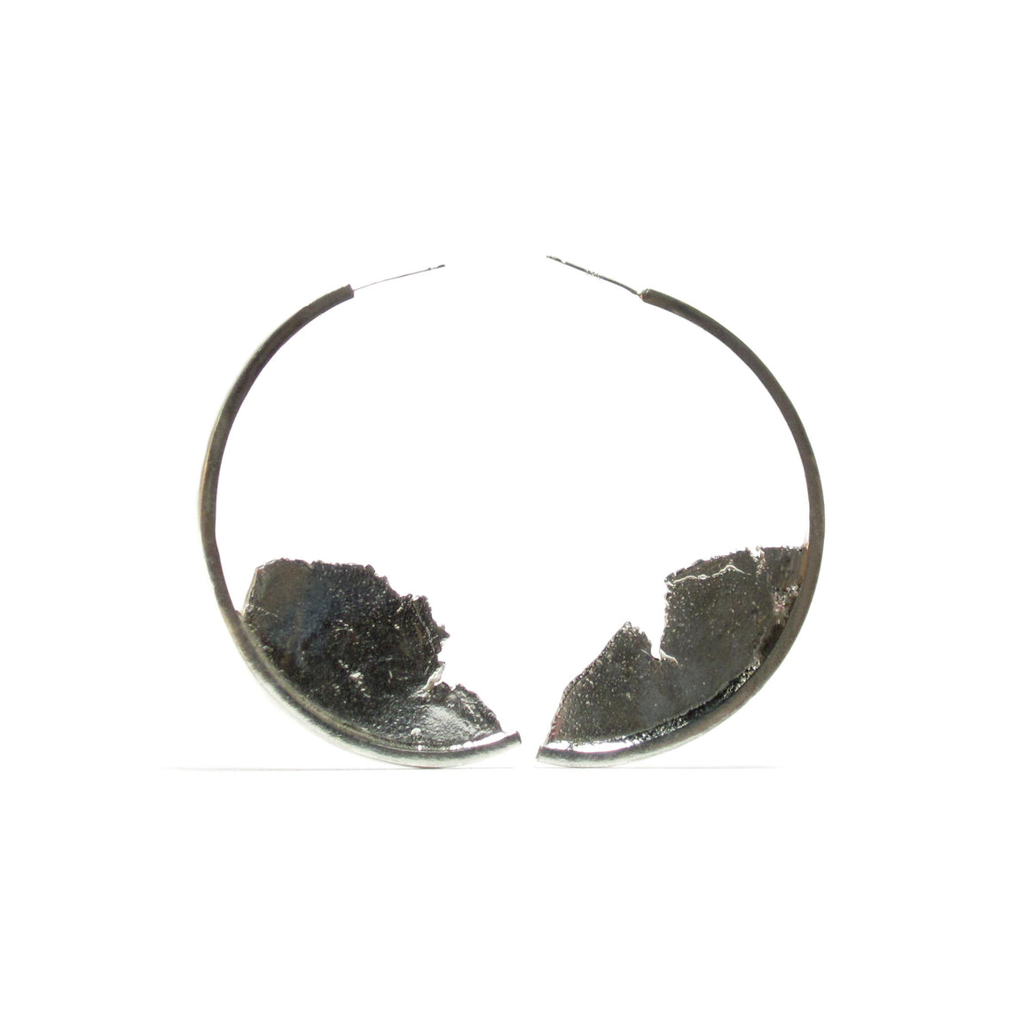 Seth Papac Torn Apart Earrings Large - Silver