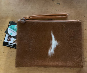 Bare Leather Manny Large Clutch