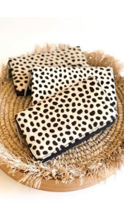 Bare Leather Moo Wallet - Snow Leopard