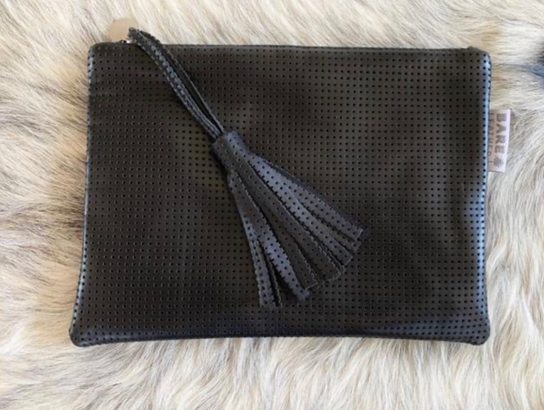 Bare Leather Shelby Clutch