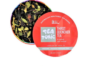 Tea Tonic Thirst Quencher Tea Loose Leaf Caddy Tin