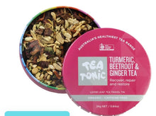 Load image into Gallery viewer, Tea Tonic Turmeric Beetroot & Ginger Tea Loose Leaf Caddy Tin