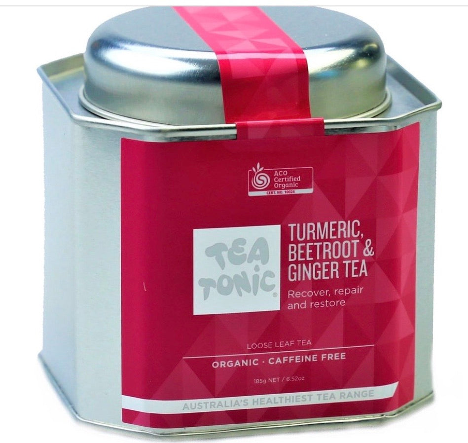 Tea Tonic Turmeric Beetroot & Ginger Tea Loose Leaf Caddy Tin