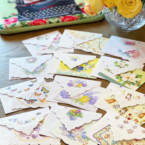 12 Embossed Blank Cards 🌸 Variety Pack - Lemon And Lavender Toronto