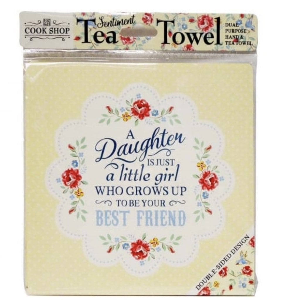 A Daughter is a Best Friend - Tea Towel - Lemon And Lavender Toronto