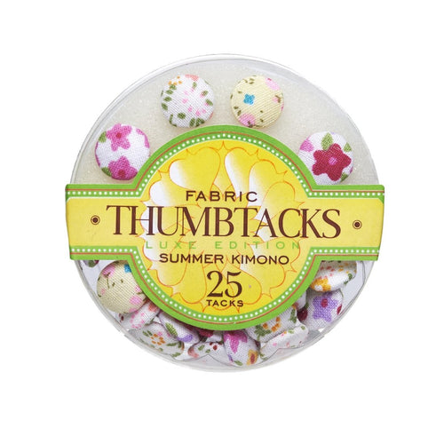 Adorable Floral - Fabric Thumbtacks - Lemon And Lavender Toronto