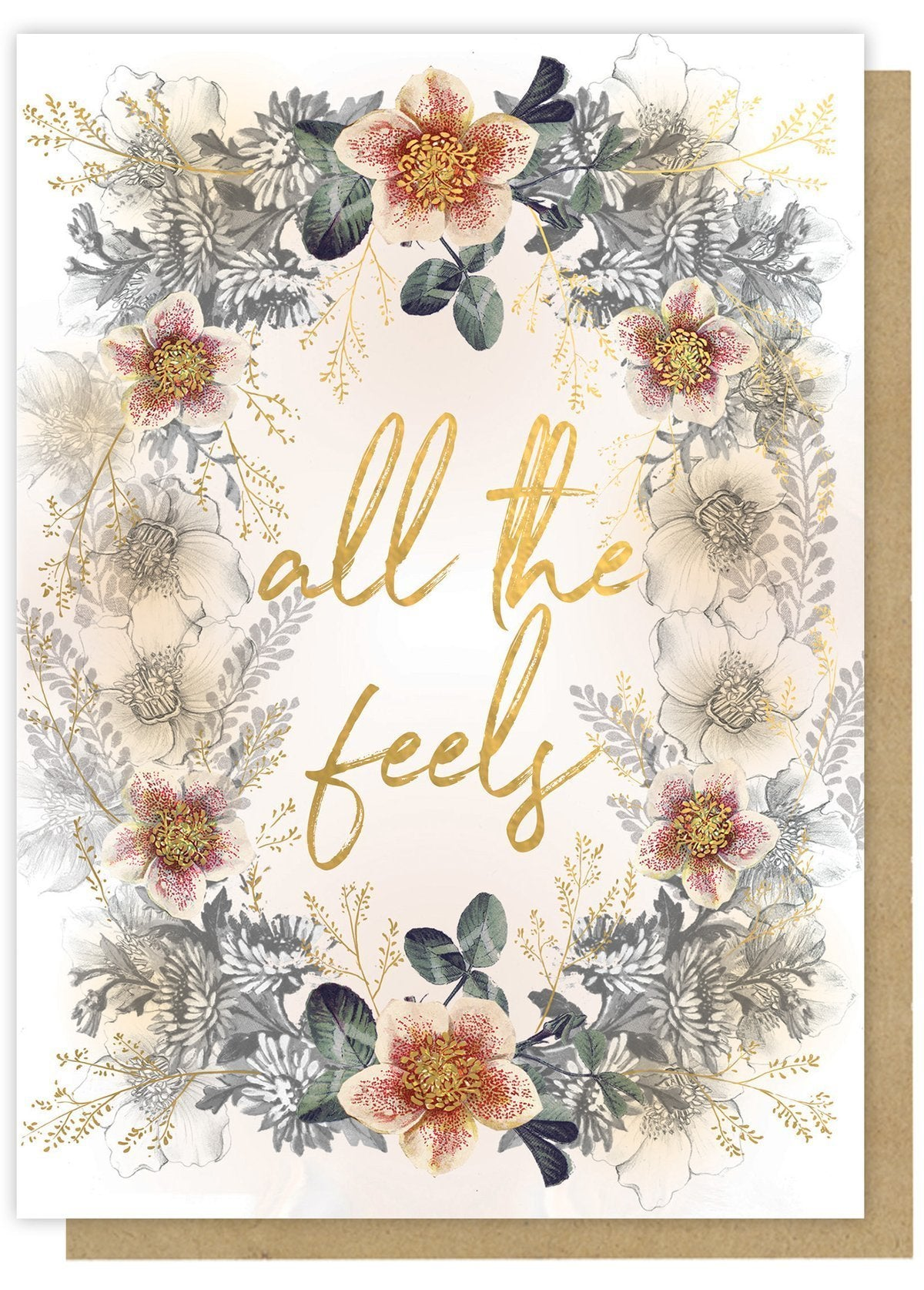 """""""All the Feels"""" -Greeting Card"""