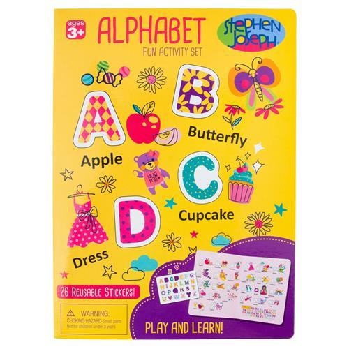 Alphabet Cling Play-board - Yellow - Lemon And Lavender Toronto