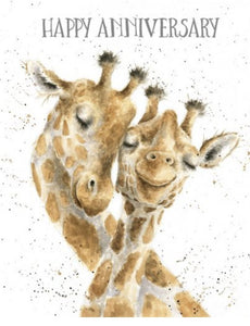 Anniversary Giraffes Card - Lemon And Lavender Toronto