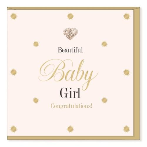 Baby Girl - New Baby Card - Lemon And Lavender Toronto