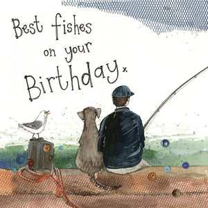 Best Fishes Fishing Birthday Card - Lemon And Lavender Toronto