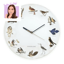 Load image into Gallery viewer, Bird Call Wall Clock - Lemon And Lavender Toronto
