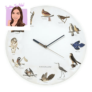 Bird Call Wall Clock - Lemon And Lavender Toronto