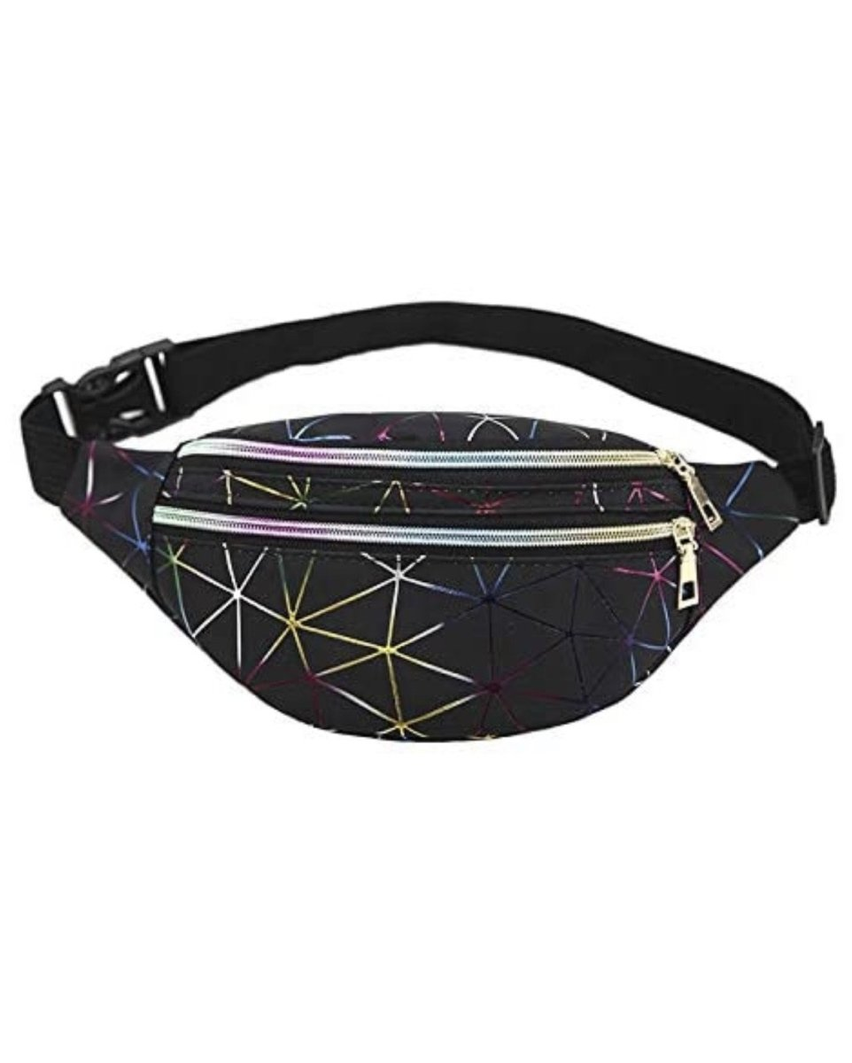 Black Multicolour Stripe Fanny Pack * PRE ORDER FOR MONDAY DELIVERY* - Lemon And Lavender Toronto