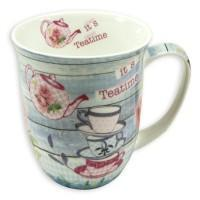 "Bone China ""It's Tea Time"" Mug - Lemon And Lavender Toronto"