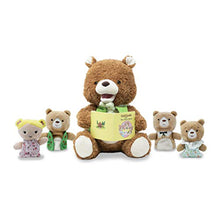 Load image into Gallery viewer, Bradford the Storytelling Bear - 4 finger puppets included - Lemon And Lavender Toronto