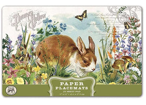Bunny Paper Placemats - Michel Design - Lemon And Lavender Toronto