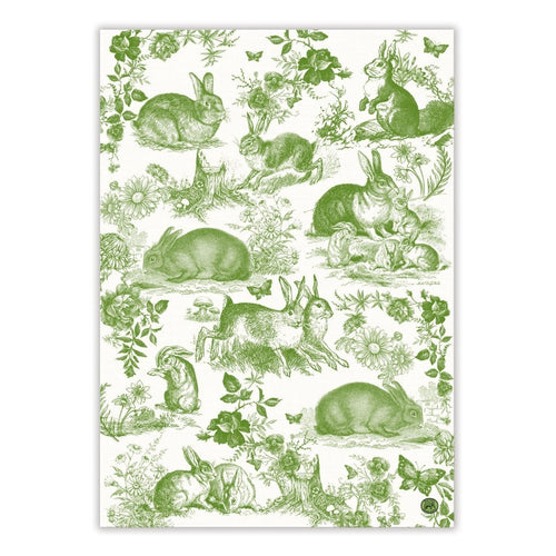 Bunny Toile Kitchen Towel - Lemon And Lavender Toronto