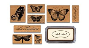 Butterflies Rubber Stamp Set - Lemon And Lavender Toronto