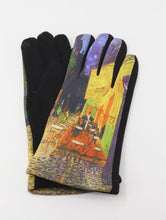 "Load image into Gallery viewer, ""Café Terrace at Night"" Touch Screen Gloves - Lemon And Lavender Toronto"