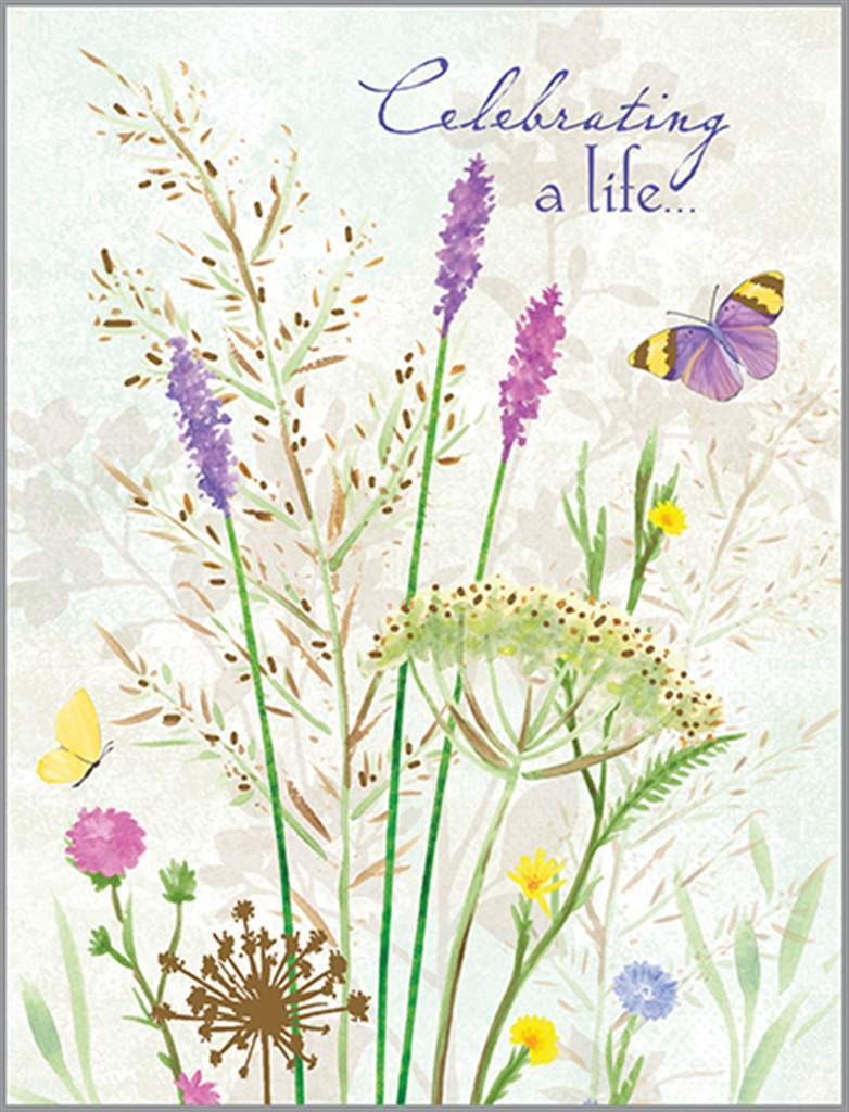 Celebrating Life Sympathy Card - Lemon And Lavender Toronto