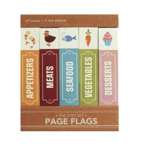 Chef Set - 375 Sticky Page Flags - Lemon And Lavender Toronto