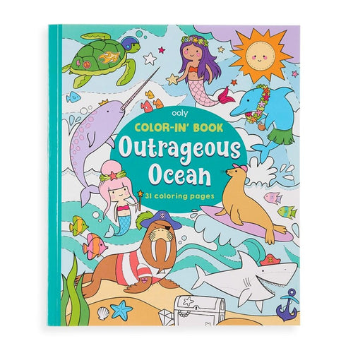 Color-in' Book: Outrageous Ocean - Lemon And Lavender Toronto